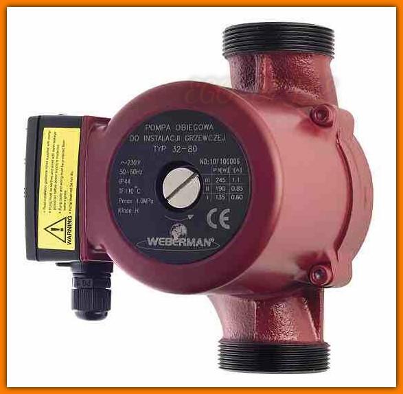 pompa obiegowa do instalacji grzewczej 0401W WEBERMAN 25-60 180