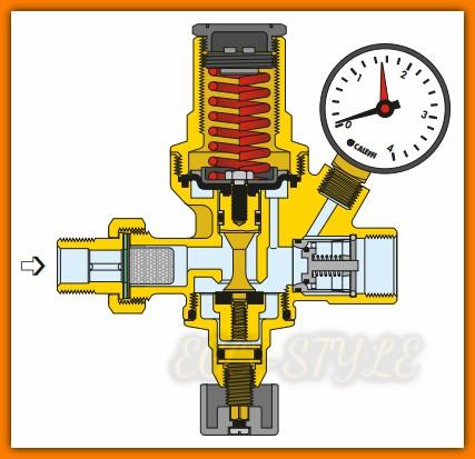 zawór napełniania instalacji 553140 CALEFFI automatyczny 16 bar Ferro