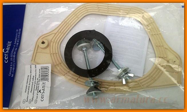Zestaw naprawczy kompaktu WC Cersanit K99-0008 uszczelka+śruby