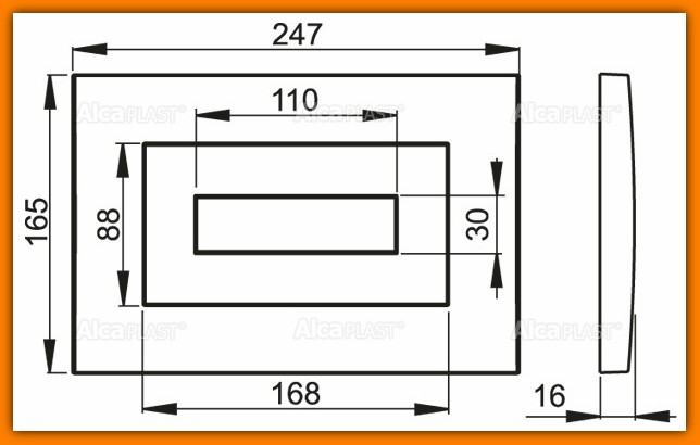ALCAPLAST M470 przycisk spłuczki podtynkowej