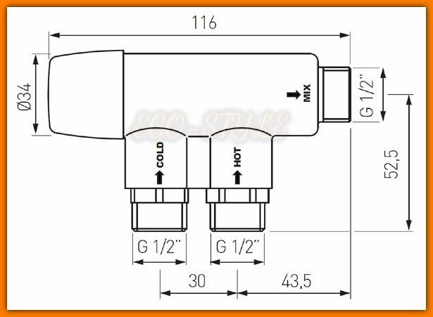 mieszacz termostatyczny MT15B FERRO do baterii bezdotykowych
