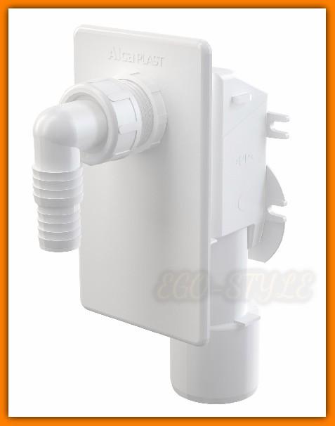 syfon pralki APS4 ALCAPLAST podtynkowy biały pralkowy