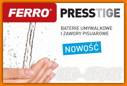 bateria umywalkowa czasowa PRESSTIGE Z201R FERRO z regulacją