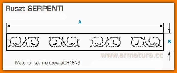 Ruszt do odwodnienia liniowego 60 cm SERPENTI WDR-600-06-0001 WINKIEL DESIGN