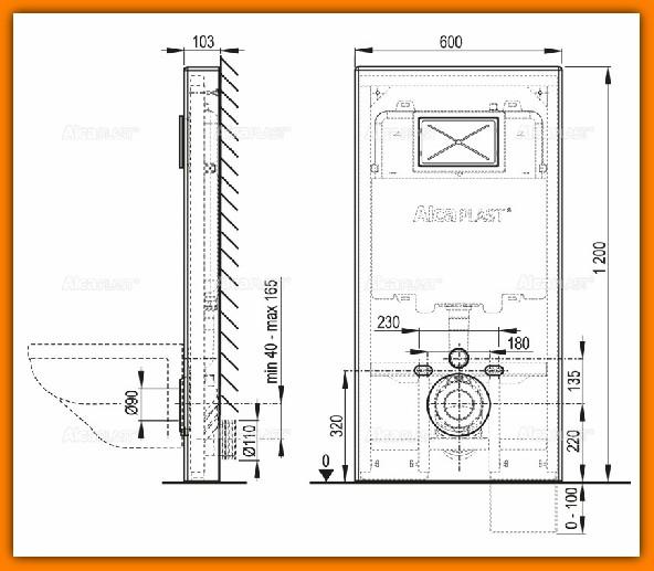 spłuczka podtynkowa A1101/1200 ALCAPLAST do zabudowy suchej stelaż