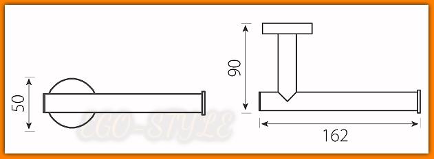 Uchwyt na papier toaletowy GRACE AC33 FERRO chrom