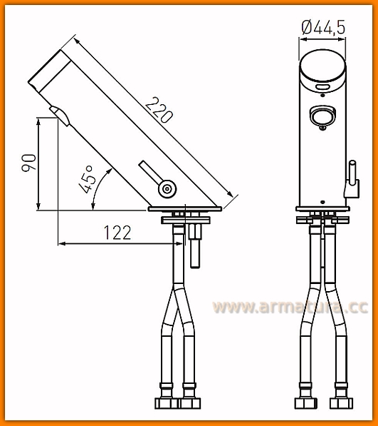 BBB111 FERRO Bateria bezdotykowa umywalkowa Mistral Sensor