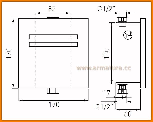 BBB201 FERRO zawór pisuarowy zephyr Sensor