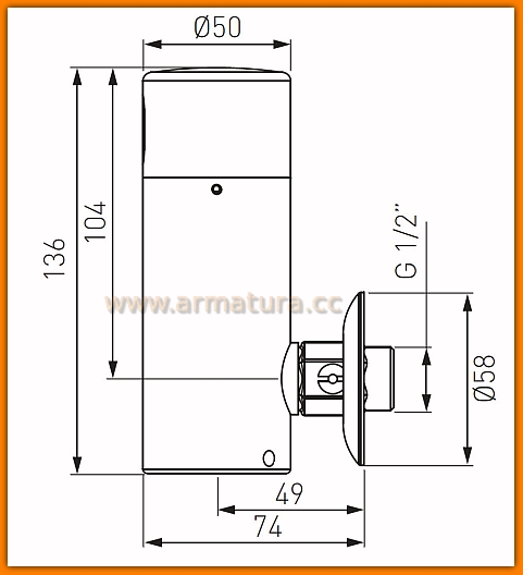 BBB211 FERRO zawór pisuarowy zephyr Sensor