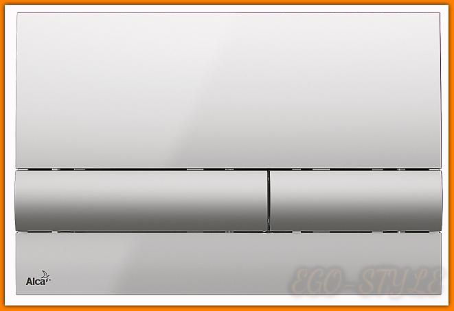 przycisk spłuczki podtynkowej M1713 ALCAPLAST chrom połysk mat delfin