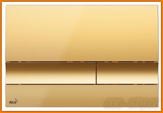 przycisk spłuczki podtynkowej M1725 ALCAPLAST złoty DELFIN
