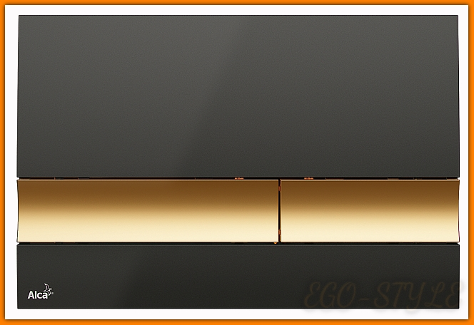 przycisk spłuczki podtynkowej M1728-5 ALCAPLAST czarny/złoty DELFIN