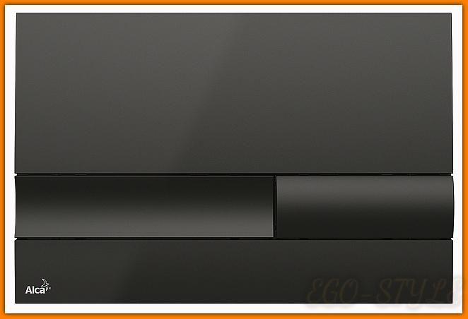 przycisk spłuczki podtynkowej M1738 ALCAPLAST czarny DELFIN czerń