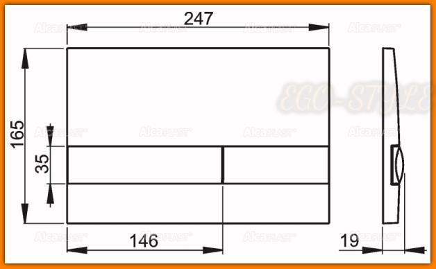 przycisk spłuczki podtynkowej M1732 ALCAPLAST chrom mat DELFIN