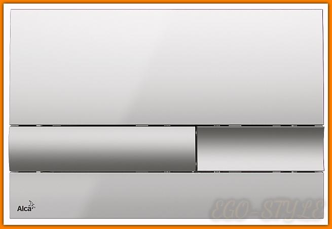 przycisk spłuczki M1743 ALCAPLAST chrom połysk mat delfin
