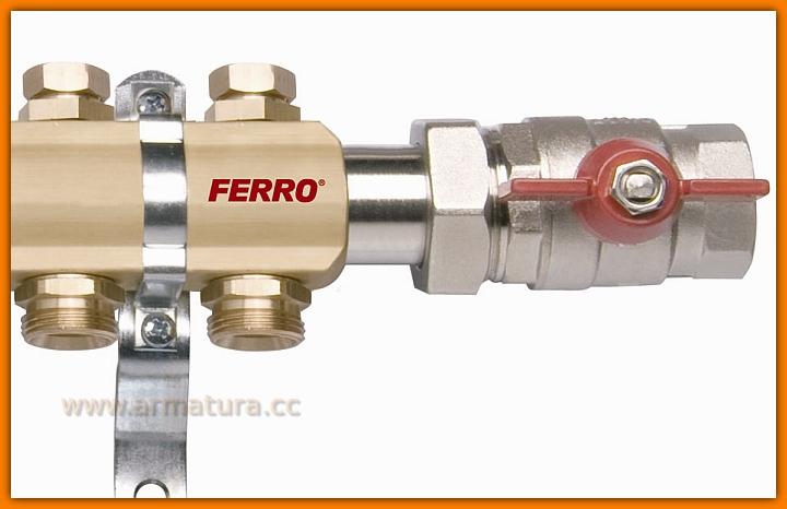 rozdzielacz RO04 FERRO do instalacji z grzejnikami 4-drogowy