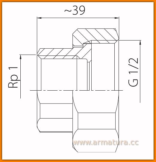 Pół-śrubunek żeliwny do pomp SG17 FERRO