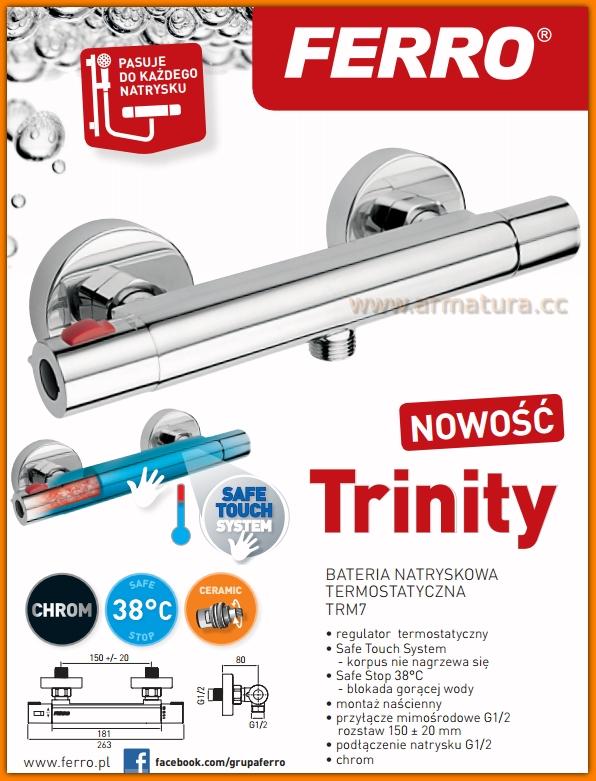 Bateria natryskowa termostatyczna TRINITY TRM7 FERRO