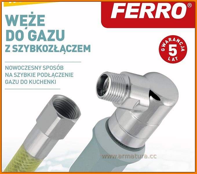 Wąż do gazu WGS1000 FERRO przyłącze gazowe