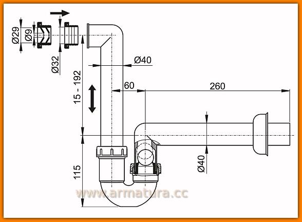 Syfon do kondensatu AKS2 ALCAPLAST