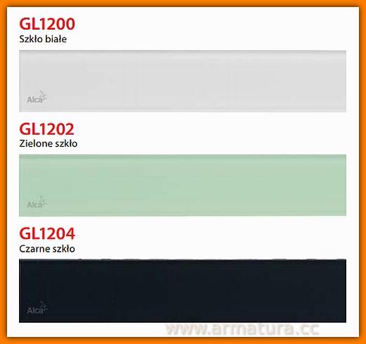 GL1200-1150 Ruszt szklany biały do odwodnienia liniowego APZ6 AlcaPlast