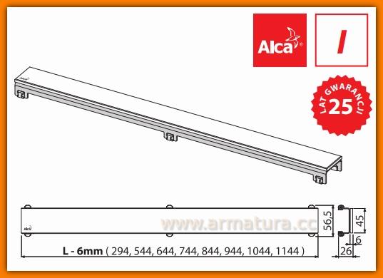 GL1200-950 Ruszt szklany biały do odwodnienia liniowego APZ6 AlcaPlast