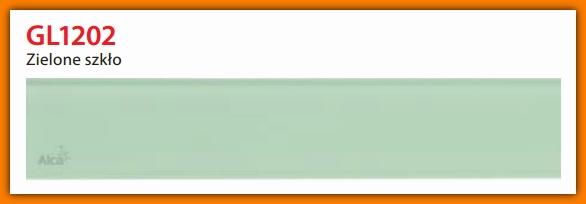 GL1202-750 Ruszt szklany zielony do odwodnienia liniowego APZ6 AlcaPlast