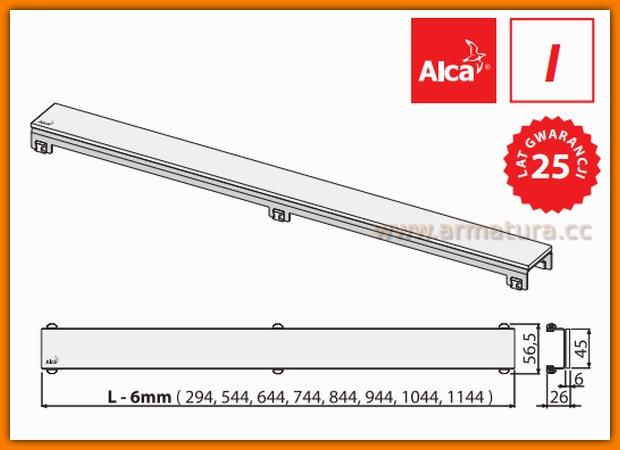 MI1200-950 Ruszt MINERAL kamień biały do odwodnienia liniowego APZ6 AlcaPlast