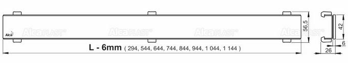 ALCAPLAST APZ106 odwodnienie liniowe odpływ liniowy