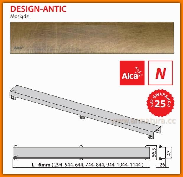 DESIGN-750ANTIC Ruszt do odwodnienia liniowego APZ6 AlcaPlast