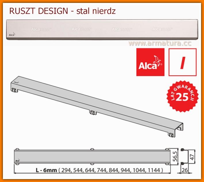DESIGN-850LN Ruszt do odwodnienia liniowego APZ6 AlcaPlast