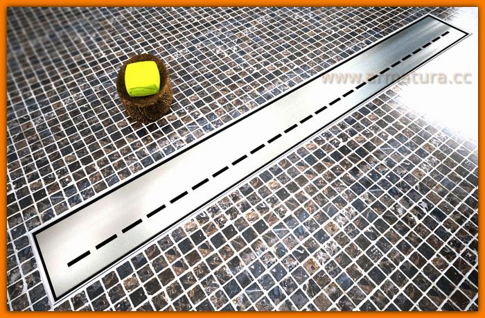 Odpływ liniowy LINE SANITLINE odwodnienie prysznicowe 80 cm