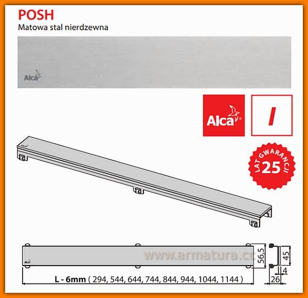 POSH-550MN Ruszt do odwodnienia liniowego APZ6 AlcaPlast