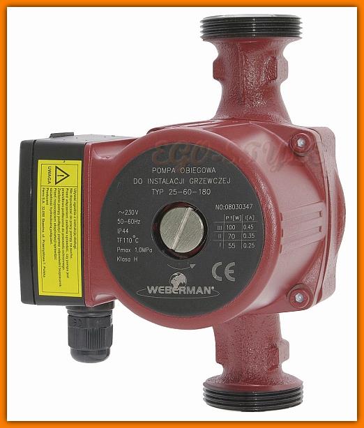 pompa obiegowa do instalacji grzewczej WEBERMAN 25-40 180 0201W