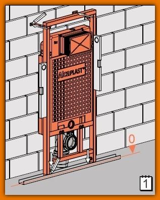 spłuczka A101/1200 ALCAPLAST podtynkowa stelaż do zabudowy lekkiej