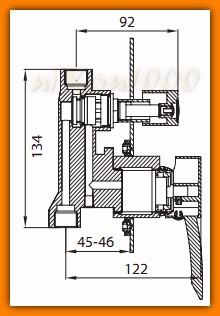 bateria natryskowa podtynkowa MODENA FERRO BTM7P prysznicowa