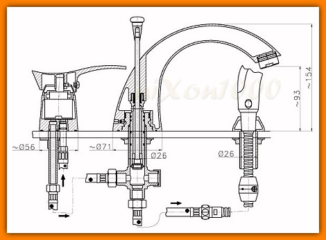bateria wannowa 3-otworowa FERRO PADWA BTP11A