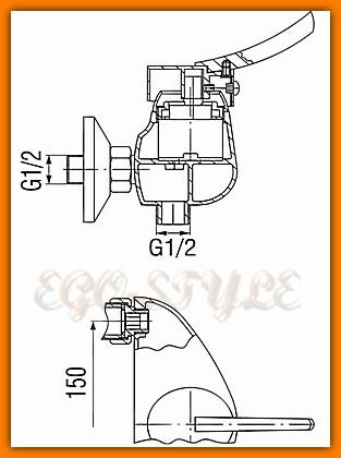 bateria natryskowa prysznicowa WERONA BTW7 FERRO