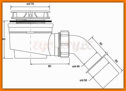 syfon brodzikowy samoczyszczący McAlpine HC252570B