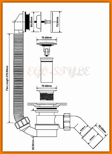 syfon wannowy McAlpine klik-klak HC2600CL