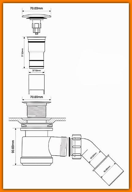 syfon samoczyszczący McAlpine klik-klak HC26CLCP