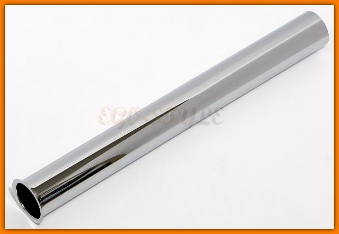 metalowa rurka z kołnierzem - przedłużka do syfonu L-300