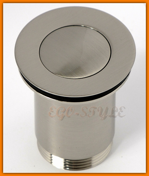 korek umywalkowy, klik-klak, ferro, rotondo, s283nc, nikiel szczotkowany