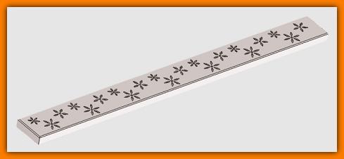 ruszt odwodnienia liniowego, odpływ liniowy, FIORE, WINKIEL DESIGN WDR-700-07-0001