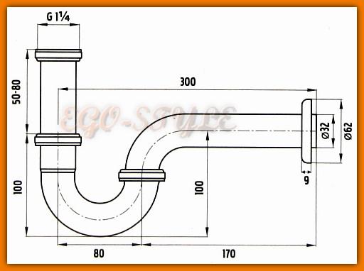 pół syfon umywalkowy rurowy FERRO S281 - tania wysyłka