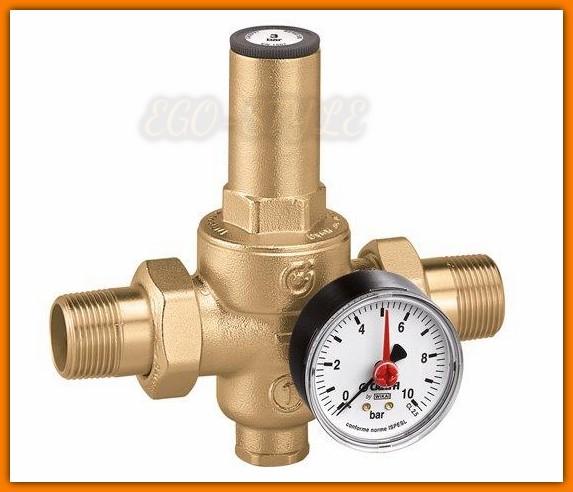 """CALEFFI 536061 Reduktor ciśnienia wody 3/4"""" 25 bar z manometrem FERRO"""