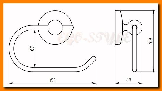 wieszak uchwyt na papier toaletowy NOVATORRE 1 FERRO 6131.0 - tania wysyłka