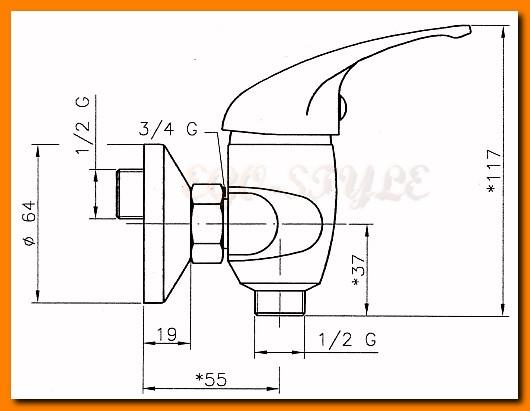 bateria natryskowa FERRO TITANIA IRIS 92060/1.0