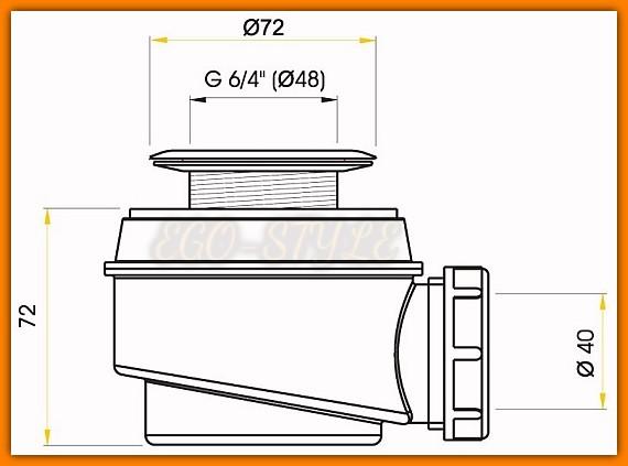syfon brodzikowy Ø 50 mm ALCAPLAST A46C