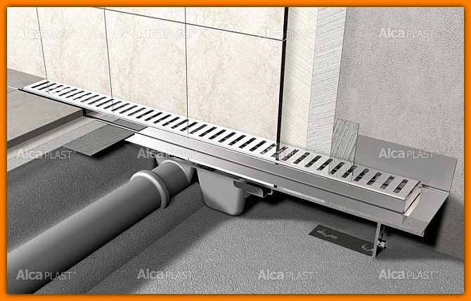 Odpływ liniowy APZ4-750 AlcaPLAST 75 cm Flexible odwodnienie liniowe z wygiętym kołnierzem